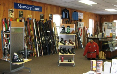 Inside the Ski Museum of Maine